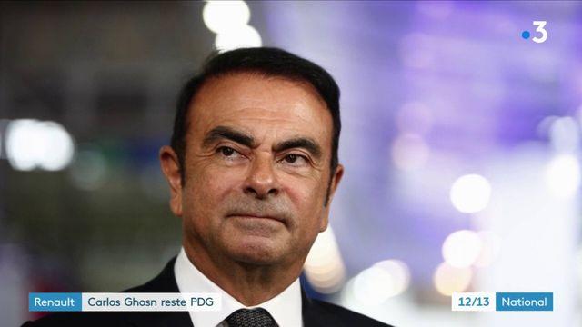 Renault : Carlos Ghosn reste PDG