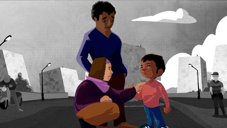 Confrontées aux contrôles au faciès, de nombreuses famillesenseignent àleurs enfantscomment se comporter face aux forces de l'ordre. (PIERRE-ALBERT JOSSERAND / FRANCEINFO)