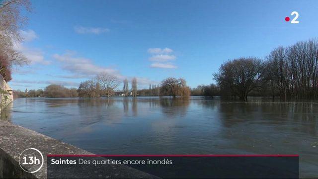 Saintes : des quartiers encore inondés