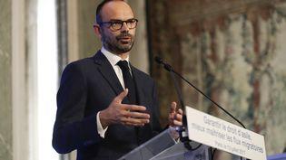 Le Premier ministre Édouard Philippe a dévoilé le mercredi 12 juillet une série de mesures pour améliorer l'accueil des migrants en France. (THOMAS SAMSON / AFP)
