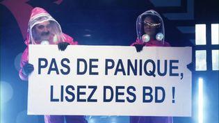 Présentation des sélections offcielles du 48e festival international de la bande dessinée d'Angoulême. (CAPTURE D'ÉCRAN FRANCE 3)