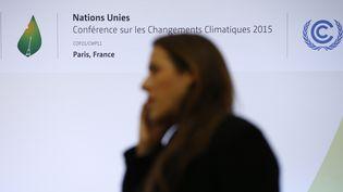 Sur le site de la COP21 au Bourget (Seine-Saint-Denis), le 3 décembre 2015. (PATRICK KOVARIK / AFP)