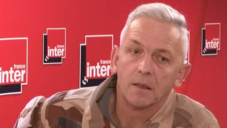 François Lecointre était l'invité de France Inter mercredi 27 novembre. (FRANCEINFO / RADIOFRANCE)
