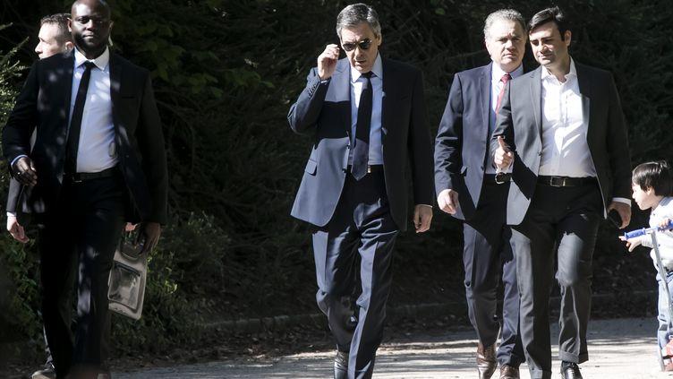 François Fillon, le 9 avril 2017 à Paris. (MAXPPP)