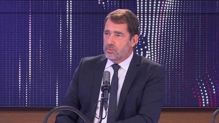 """Christophe Castaner,président du groupe LREM à l'Assemblée nationale, était l'invité du """"8h30franceinfo"""", mercredi 22 septembre 2021. (FRANCEINFO / RADIOFRANCE)"""