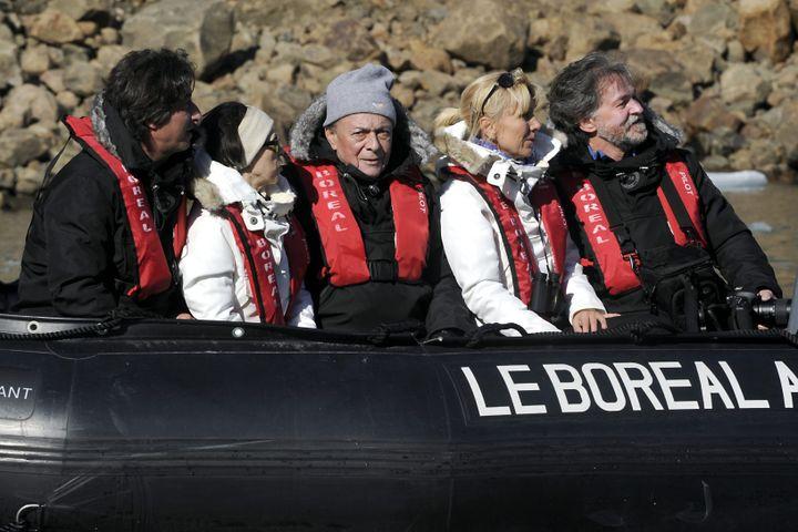 Michel Rocard, alors ambassadeur des pôles, en septembre 2011, en zone arctique du Canada. (THIERRY SUZAN / MAXPPP)