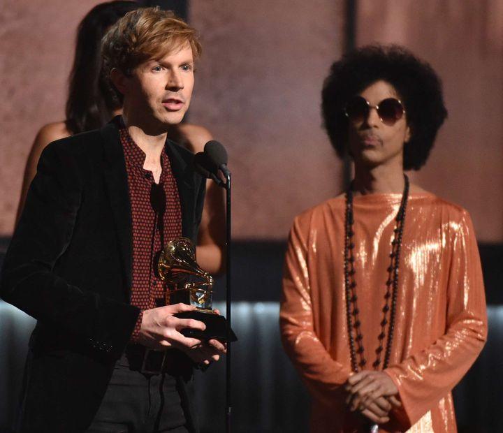 Beck et Prince  (John Shearer/AP/SIPA)