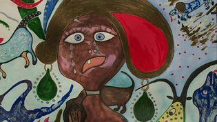 Exposition Corinne Deville Taittinger à Charleville-Mézières (CAPTURE D'ÉCRAN FRANCE 3)