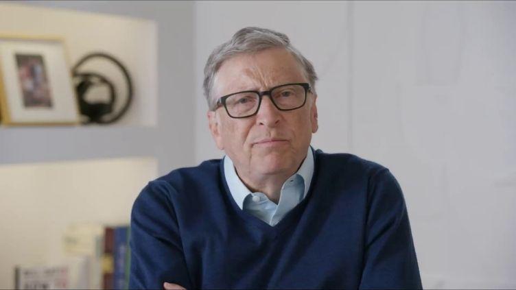 """Bill Gates,co-fondateur de Microsoft et de la fondation Bill et Melinda Gates, était l'invité du """"8h30 franceinfo"""" du jeudi 28 janvier 2021. (FRANCEINFO / RADIOFRANCE)"""