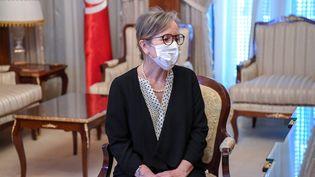 Najla Bouden Romdhanea été nommée à la tête du gouvernement tunisien le29 septembre 2021 par le président Kaïs Saïed. (PRESIDENCY OF TUNISIA HANDOUT / MAXPPP)