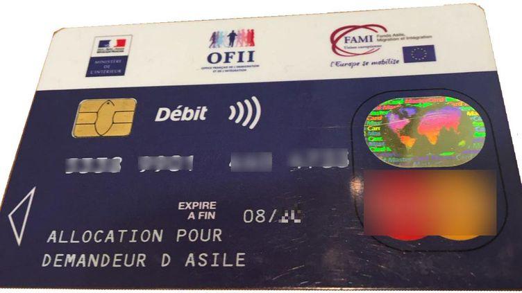Une carte pour l'allocation de demandeur d'asile (ADA). (DR)