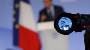 Le président de la République, François Hollande, lors d'une conférence à l'Elysée, le 28 août 2014. (SIPA)