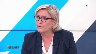 Marine Le Pen, le 4 mars 2018 sur le plateau de France 3. (FRANCE 3)
