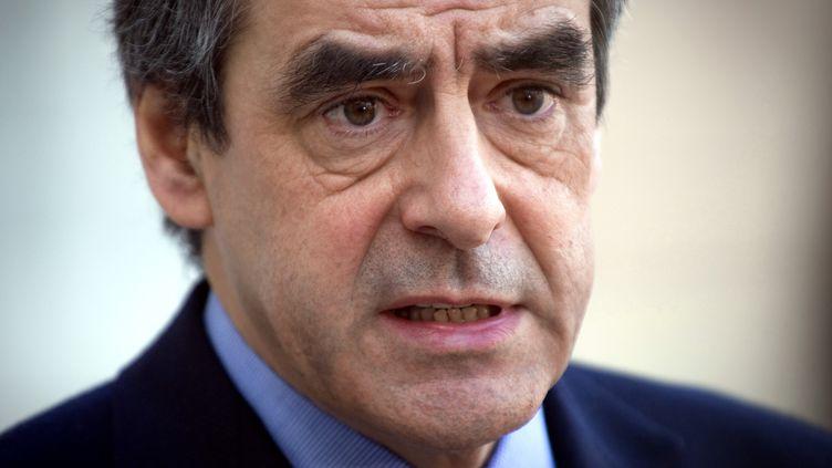 Le Premier ministre François Fillon au palais de l'Elysée à Paris, le 10 février 2012. (LIONEL BONAVENTURE / AFP)
