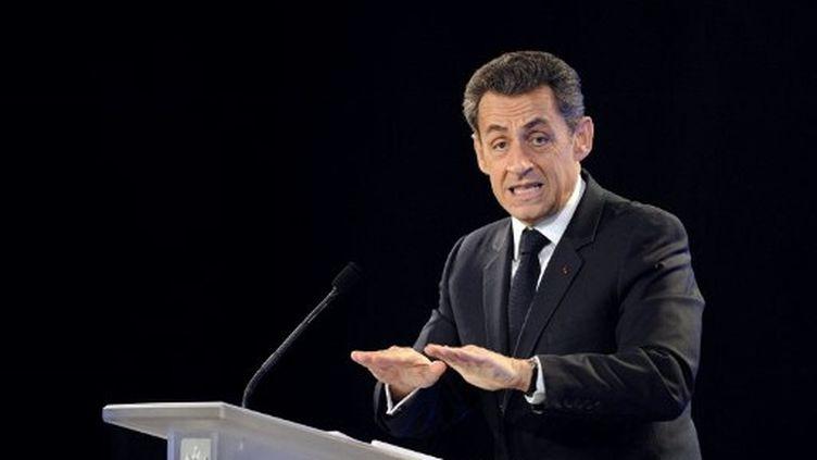 Nicolas Sarkozy présente ses voeux à l'Education nationale le 24 janvier 2012 à Marseille (AFP / ERIC FEFERBERG)