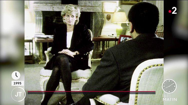 Lady Di, lors de son interview en 1995. (France 2)