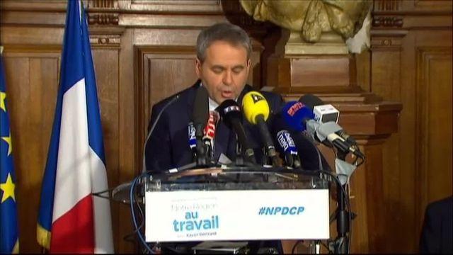 """Régionales : """"Le visage de la région Nord-Pas-de-Calais-Picardie ne sera pas celui de Marine Le Pen"""", lance Xavier Bertrand"""