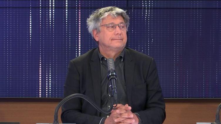 Le député La France insoumiseÉric Coquerel le 18 avril 2021 sur franceinfo. (FRANCEINFO / RADIOFRANCE)