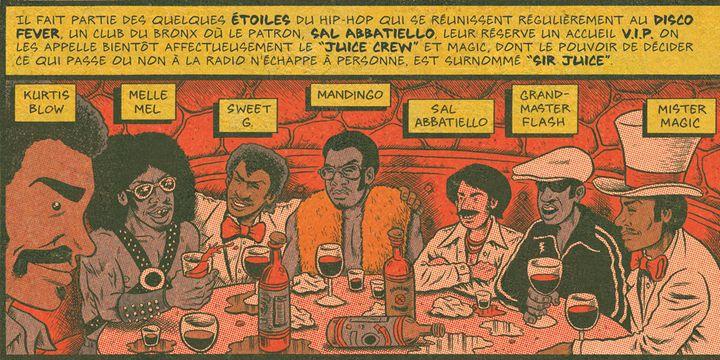 """Extrait de """"Hip Hop Family Tree Volume 1"""" de Ed Piskor, page 71.  (Ed Piskor - Fantagraphics - Papa Guédé Editions)"""