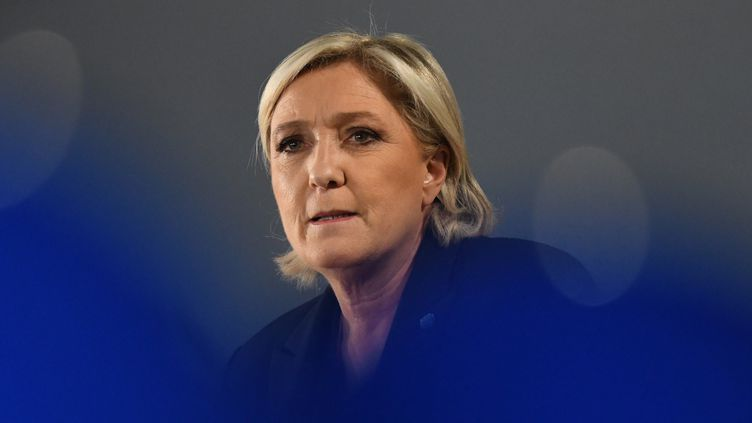 Marine Le Pen le 3 avril 2017.  (JEAN-FRANCOIS MONIER / AFP)
