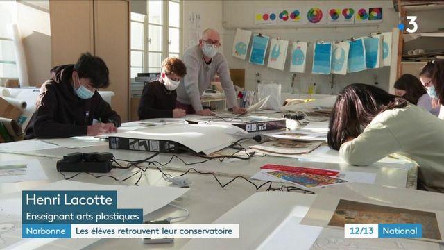 Narbonne : les élèves du conservatoire retrouvent le plaisir des cours en présentiel