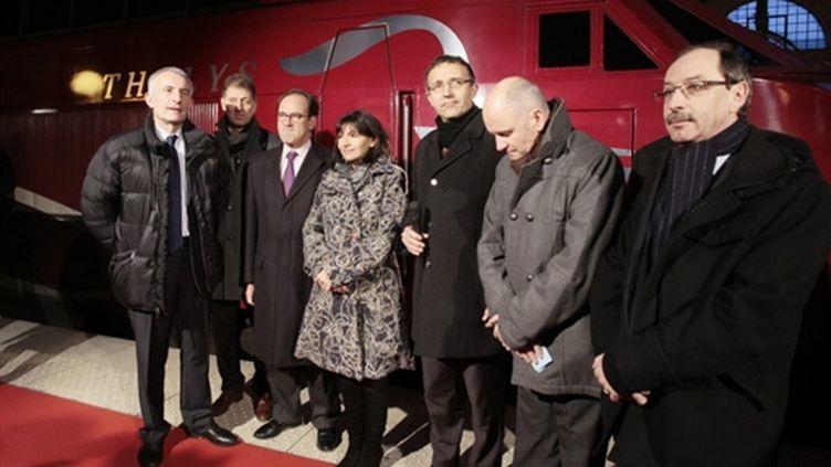 Le nouveau Thalys inauguré dimanche en gare du Nord à Paris (13/12/2009) (AFP/FRANCOIS GUILLOT)