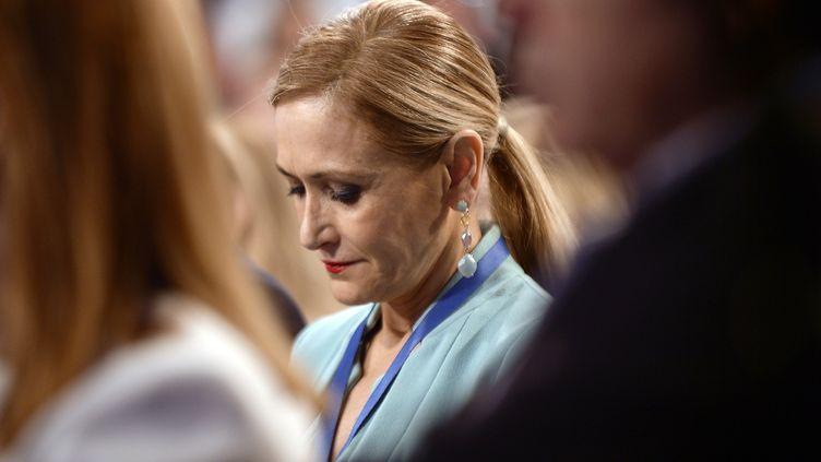 Cristina Cifuentes, le 8 avril 2018 à Séville (Espagne). (CRISTINA QUICLER / AFP)