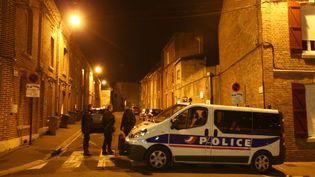 Le quartier d'Amiens où a été interpellé le convoyeur de fonds Adrien Derbez, le 12 février 2019. (FRED HASLIN / MAXPPP)