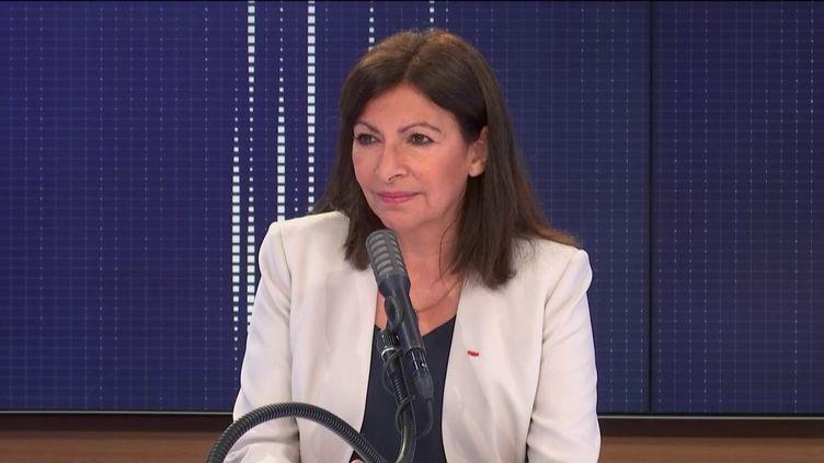 Anne Hidalgo, maire de Paris et candidate à sa réélection, était l'invitée de franceinfo jeudi 18 juin 2020. (FRANCEINFO / RADIO FRANCE)