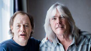 Angus Young et Cliff Williams de AC/DC en novembre 2014.  (Marcus Simaitis /DPA / AFP)