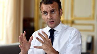 Emmanuel Macron le 4 novembre 2018. (ALEXANDRE MARCHI / MAXPPP)