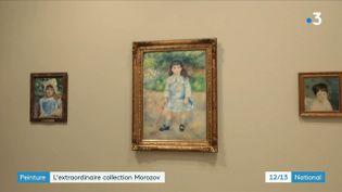 C'est un trésor : la collection d'art des frères russes Morozov. Plus de 200 tableaux, dessins, sculptures, photographies... c'est la première fois que cette collection est présentée hors de Russie. (FRANCE 3)