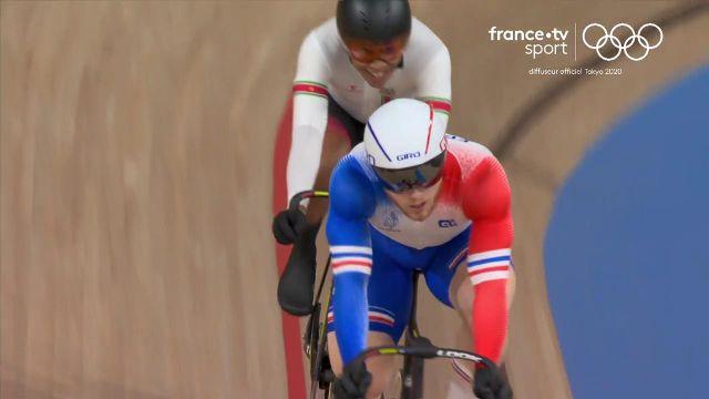 Le Français Sébastien Vigier s'est imposé en repêchages pour gagner son billet vers les huitièmes de finale en vitesse individuelle.