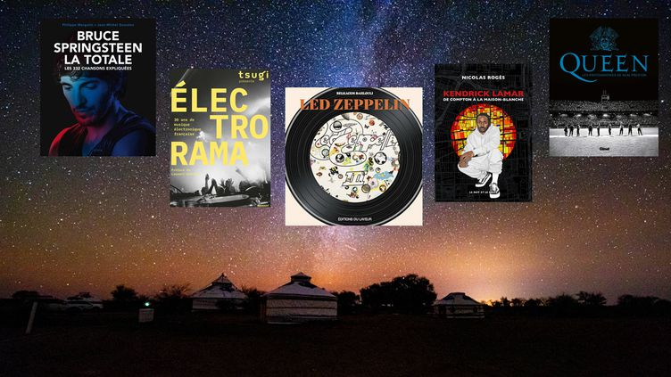 Couvertures de beaux livres musique à offrir à Noël 2020. (QIN JIAN / COSTFOTO/ SIPA USA - E/P/A - MARABOUT - EDITIONS DU LAYEUR - LE MOT ET LE RESTE - GLENAT)