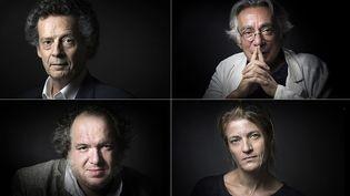 Les quatre derniers finalistes du Goncourt Kaddour, Nathan, Enard et Azoulay  (Joel Saget / AFP)