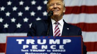 Donald Trumplors d'unmeeting à Delaware, dans l'Ohio (Etats-Unis), le 20 octobre 2016 (JONATHAN ERNST / REUTERS)