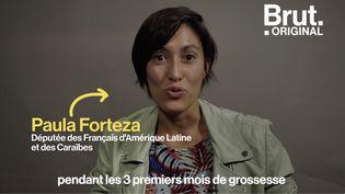 """VIDEO. Grossesse : """"Ce silence imposé des trois mois est un non-sens absolu"""", déplore la députée Paula Forteza (BRUT)"""