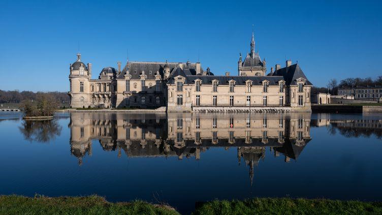 Le château de Chantilly (Oise), le 10 janvier 2021 (RICCARDO MILANI / HANS LUCAS VIA AFP)