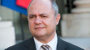 Le président du groupe PS à l'Assemblée nationale, Bruno Le Roux, le 14 mai 2014, à l'Elysée. (CITIZENSIDE / ZAER BELKALAI / AFP)