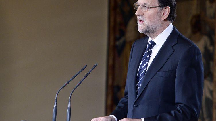 Le Premier ministre espagnol, Mariano Rajoy, le 2 juin 2014, à Madrid (Espagne). (GERARD JULIEN / AFP)