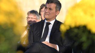 Gérald Darmanin, le ministre de l'Intérieur, le 28 octobre 2021 à Sarre-Union (Bas-Rhin) lors de laréhabilitation du cimetière juif profané en 2015. (FREDERICK FLORIN / AFP)