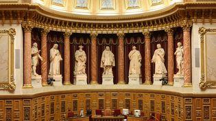 Hemicycle au Sénat, palais du Luxembourg à Paris. (PHOTO12 / GILLES TARGAT)