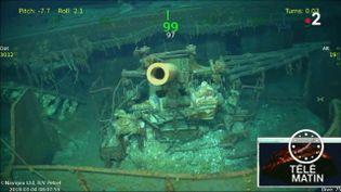 L'épave de l'USS Lexington retrouvée au fond de l'eau (France 2)