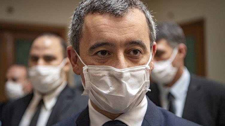 Gérald Darmanin, le ministre de l'Intérieur, à Rabat, au Maroc, le 16 octobre 2020. (FADEL SENNA / AFP)
