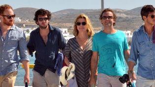 Nicole Garcia entourée de ses quatre fils à l'écran : Michaël Abitboul, Eric Caravaca, Patrick Mille et Gaspard Ulliel  (Agat Films & Cie)