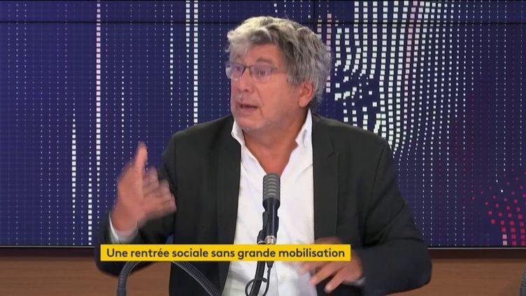 Eric Coquerel, le 19 septembre 2020, sur franceinfo. (FRANCEINFO / RADIOFRANCE)