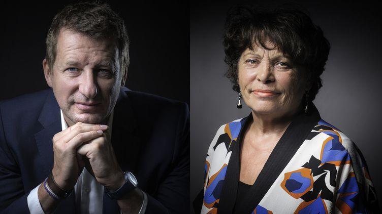 Les candidats à la primaire écologiste Yannick Jadot et Michèle Rivasi ont été qualifiés pour le second tour, le 19 octobre 2016. (AFP / FRANCEINFO)