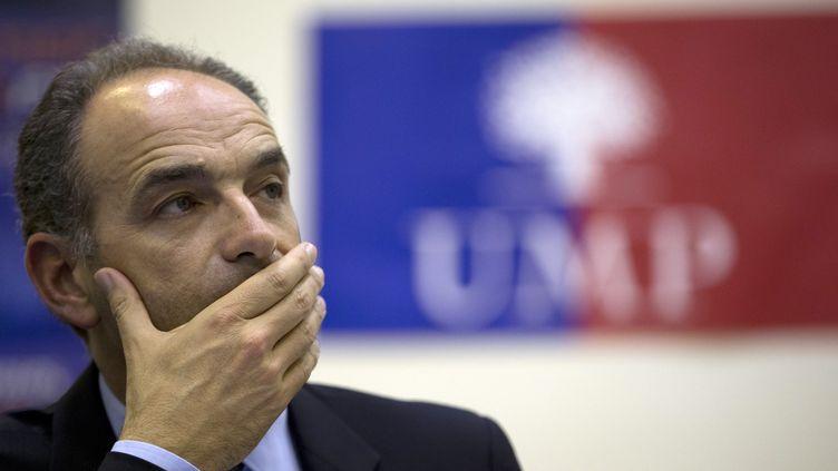 Le président de l'UMP Jean-François Copé, le 13 juillet 2013 à Paris. (KENZO TRIBOUILLARD / AFP)