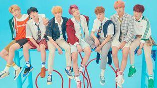 Les sept garçons du boys band sud-coréen BTS en 2018.  (Big Hit Entertainment)
