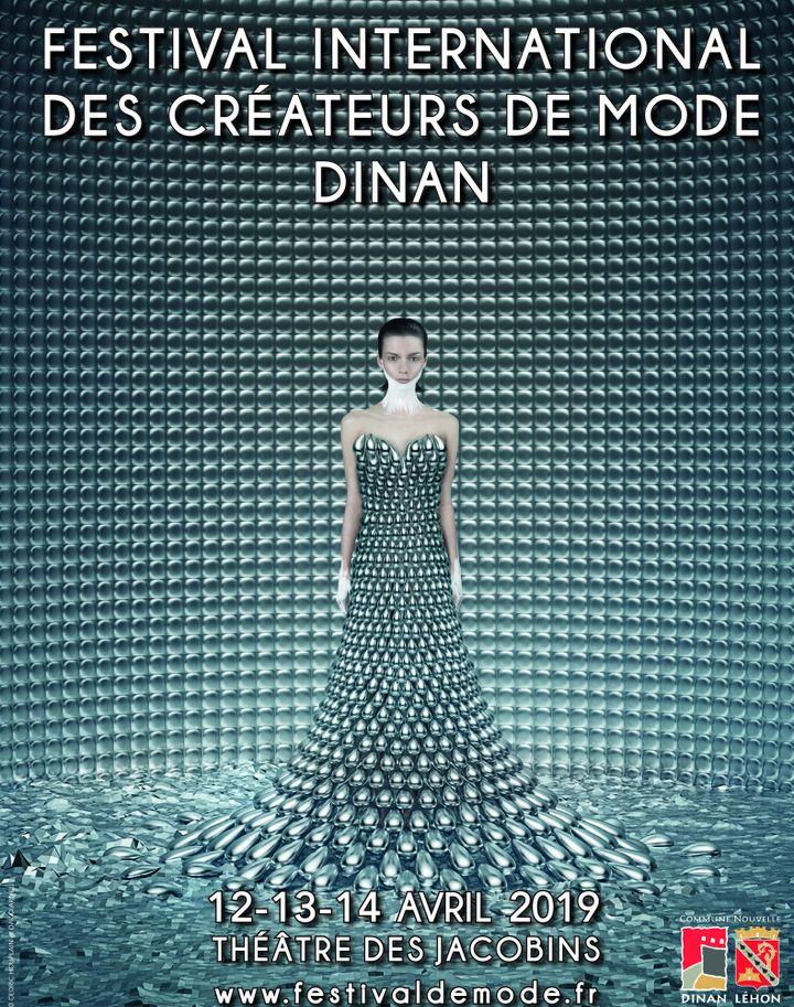 Affiche de la 25e édition du Festival International des Créateurs de Mode  (Festival international des Créateurs de Mode Dinan 2019)